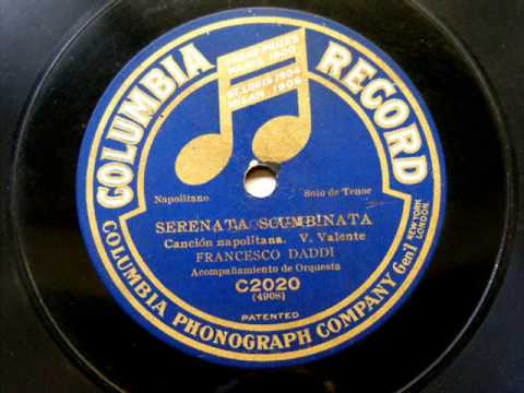 Francesco Daddi Serenata Scumbinata (Valente) Columbia 4908 C2020