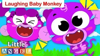 Laughing Baby Monkey and Family | Kids Song by Little Angel Nursery Rhymes