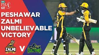 PSL2021 Peshawar Zalmis Unbelievable Victory Haider Ali Peshawar Vs Multan Match 5 MG2T