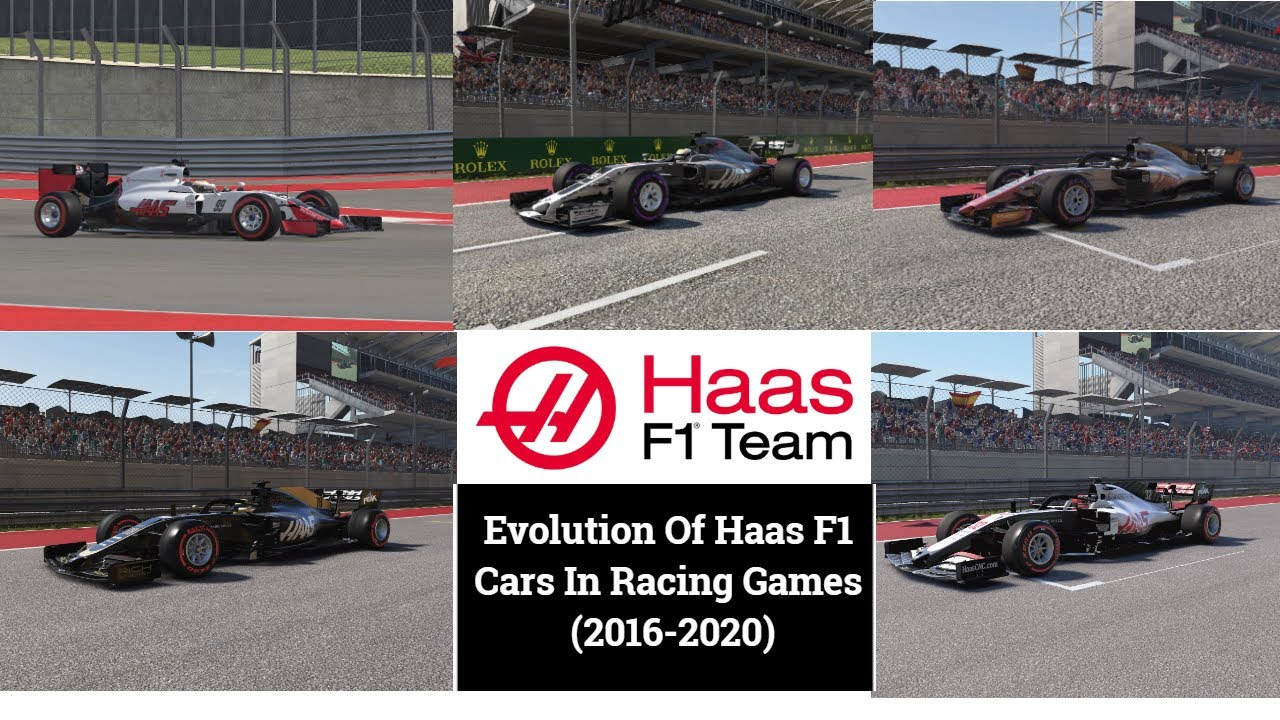 Evolution Of Haas F1 Cars In Racing Games 2016 2020 Youtube