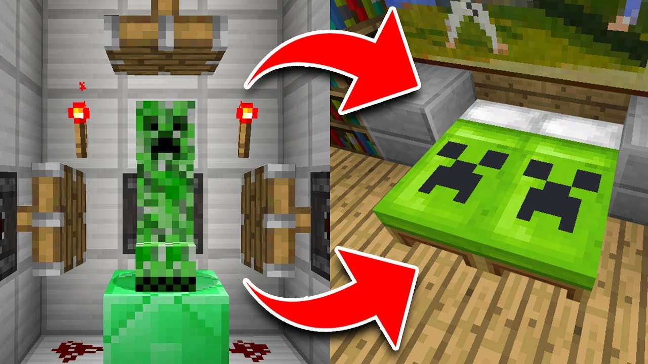 How to Make SECRET BEDS in Minecraft Tutorial! (Pocket Edition, Xbox, PC)