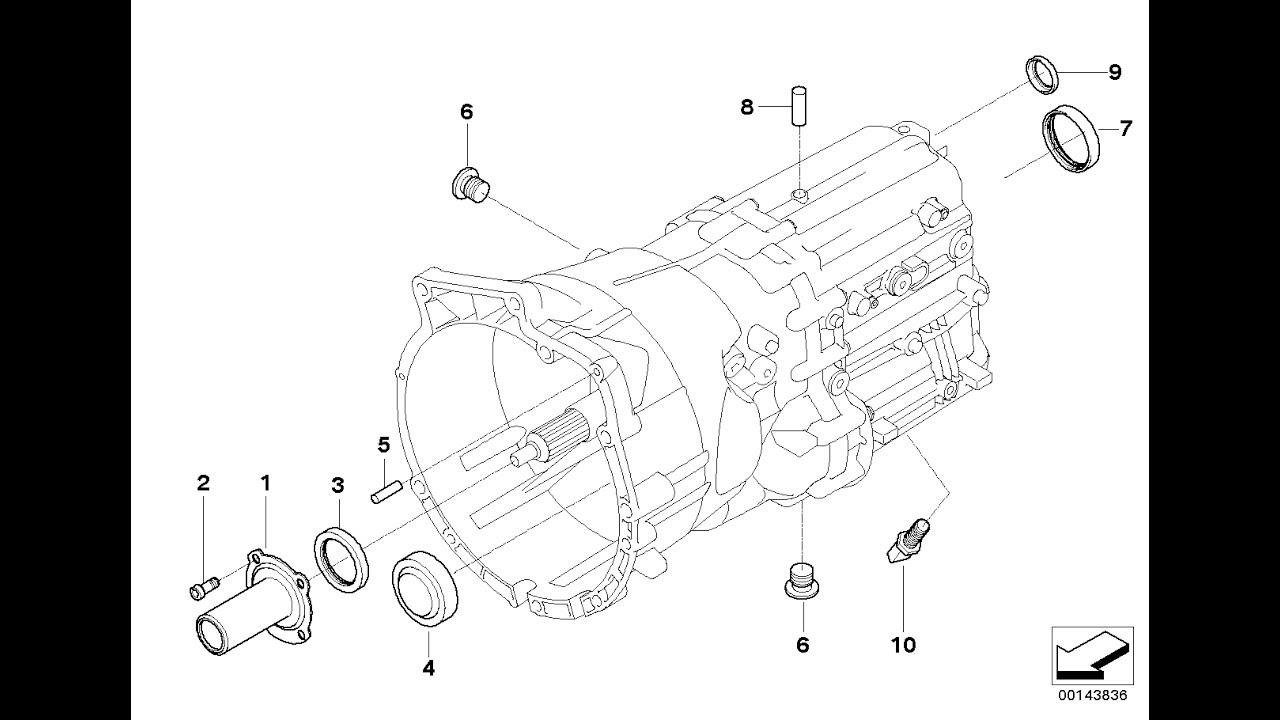 Замена подвесного, муфты и сальников МКПП BMW 530D E60/61