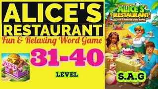 Alice Restaurant Word Game level 31 32 33 34 35 36 37 38 39 40 answer gameplay Full Story Design screenshot 2