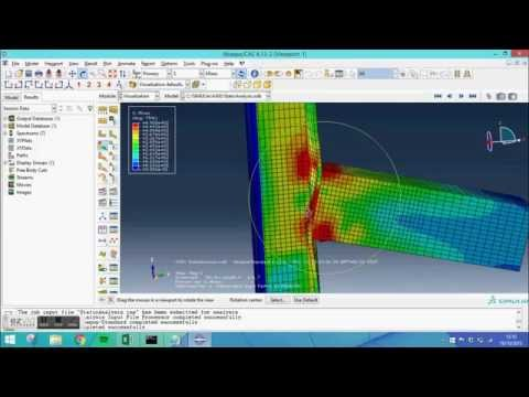 Abaqus tutorial - Static Analysis of a T-joint