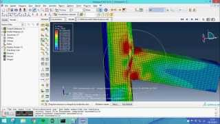 Repeat youtube video Abaqus tutorial - Static Analysis of a T-joint