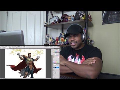 Tyrone Magnus Saiyan Art - REACTION!!!