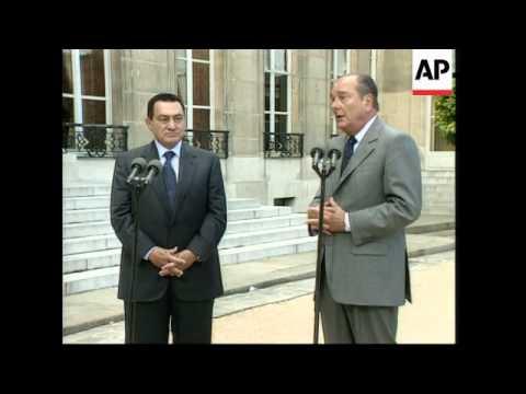 FRANCE: EGYPTIAN PRESIDENT HOSNI MUBARAK ARRIVES