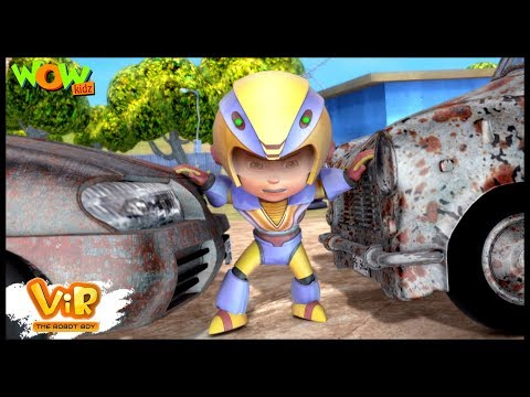 Vir The Robot Boy | Hindi Cartoon For Kids |Car Thief | Animated Series| Wow Kidz