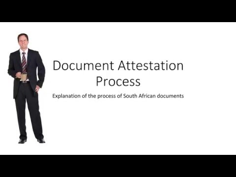 Document Attestation Process South Africa