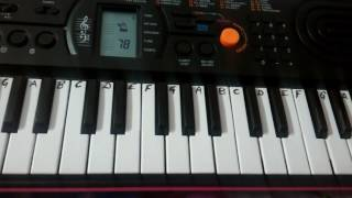 Kaun Tujhe on Keyboard piano~ MS Dhoni~ Casio-Keyboard Cover~ EASY NOTES for beginners.