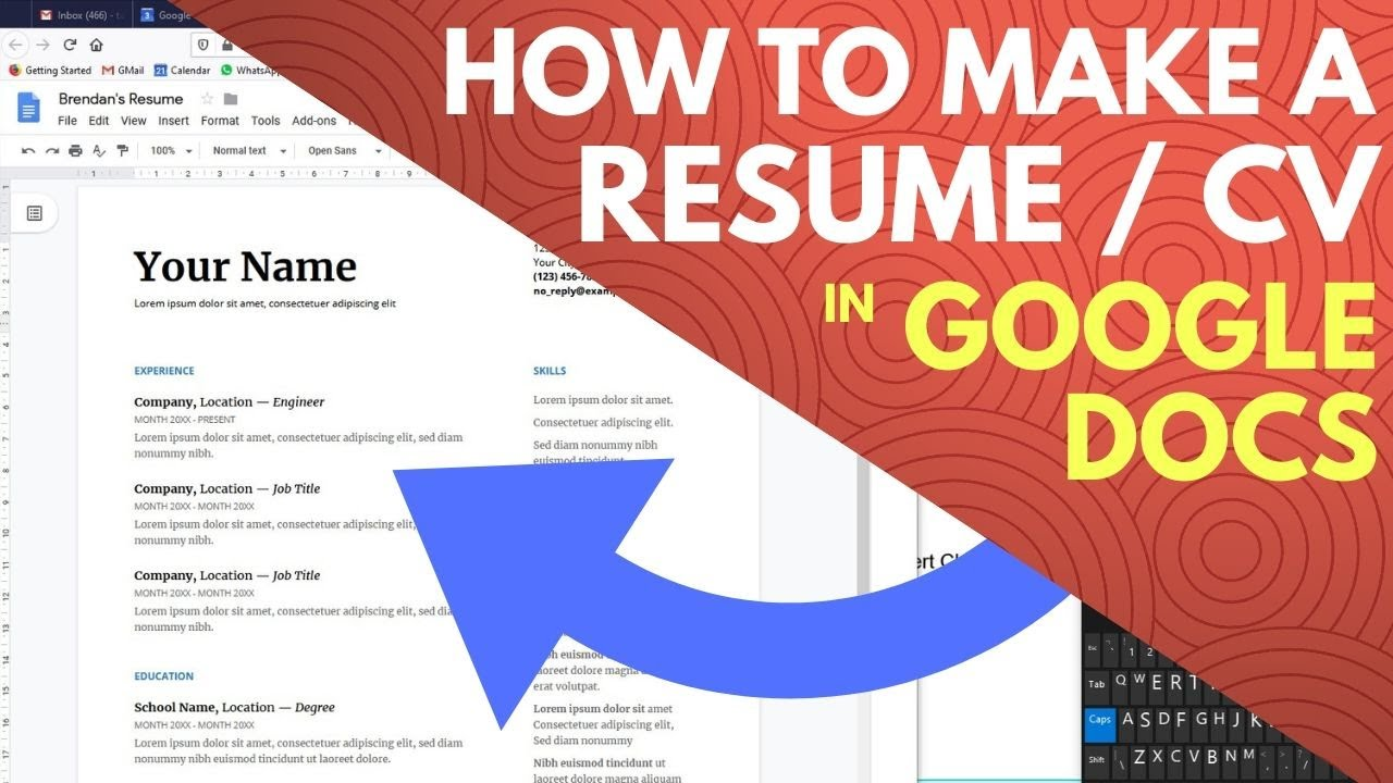 How To Make A Resume On Google Docs In Google Drive Youtube