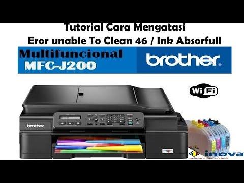Brother Printer J 200 Reset Purge Counter