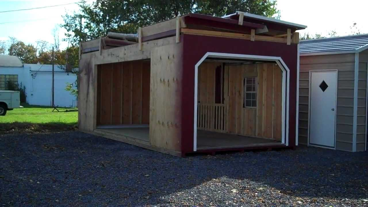 2 story garage kit youtube for Double story garage