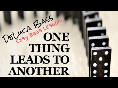 Easy Bass Lesson! One Thing Leads To Another - The Fixx