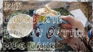 Diy Chocolate Peanut Butter Cake In A Mug