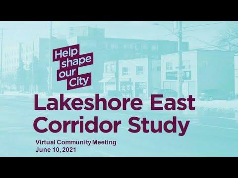 Lakeshore East Corridor Study Community Meeting - June 10, 2021