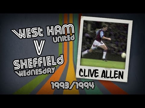 CLIVE ALLEN - West Ham v Sheff Wed, 93/94 | Retro Goal