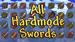 Hardmode Swords in Nutshell (Terraria Weapons)