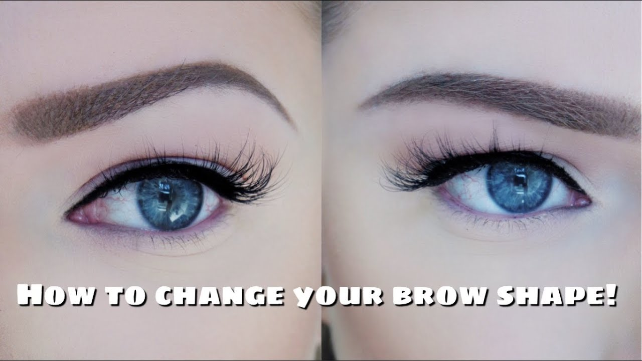 How To Change Your Brow Shape With Makeup Youtube