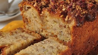 Banana Streusel Bread Recipe Demonstration - Joyofbaking.com