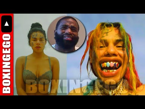 "WHOA!!!! TEKASHI 69 TYPES ""CLOWN"" ON ADRIEN BRONER'S POST WITH AB AND CHARLAMAGNE"