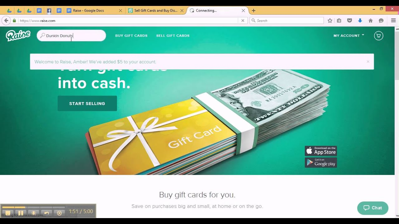 Raise - Buy and Sell Gift Cards At A Discount! - YouTube