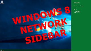 Windows 10 Tips and Tricks : Enable Windows 8 like Network Sidebar by simple Trick