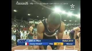 200m men Rabat 2015 Vicaut 20.42 (-0.2m/s)
