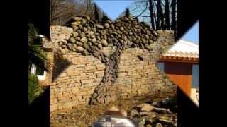 Construction de muros de piedra natural