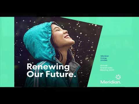 Meridian Energy Annual Shareholder Meeting 2020