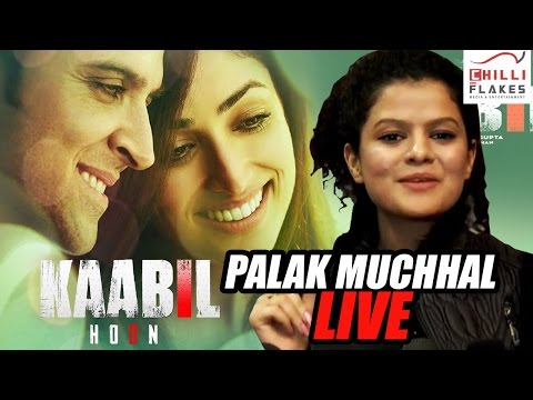Kabil Movie Titlle Track - ( Video) Palak Muchhal LIVE PERFORMANCE