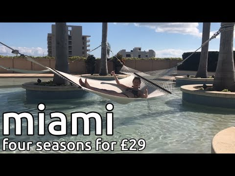 four seasons hotel for £29 | new york to miami travel vlog