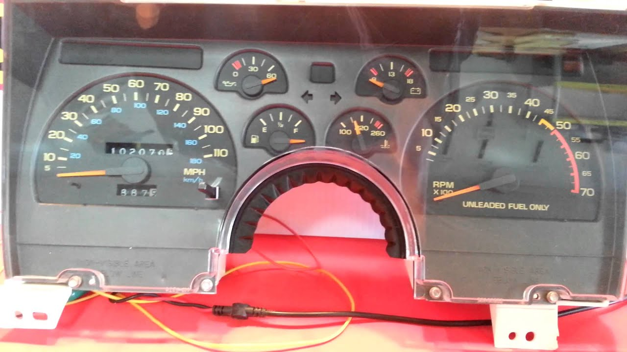 Iroc Fuse Box Diagram 1992 Chevy Camaro V8 Speedometer Bench Test Youtube