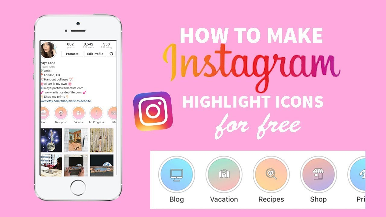 How To Make Beautiful Instagram Story Highlight Covers Youtube