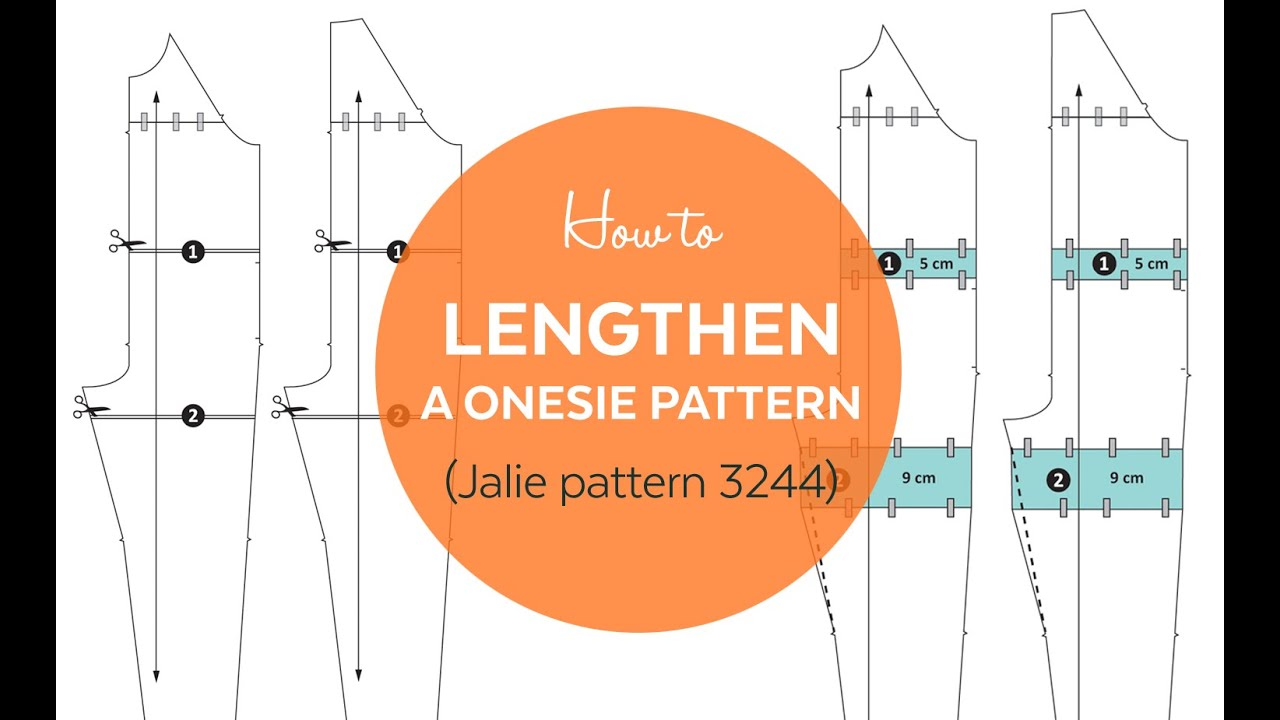 Sewing pattern for adult footed pajamas