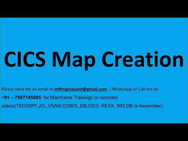 CICS Maps creation_ BMS MACROS DFHMSD DFHMDI DFHMDF