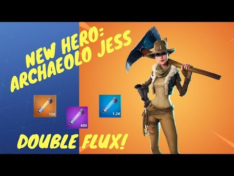 *Archaeolo Jess* Fortnite STW Content Update: New Outlander Hero, DOUBLE FLUX!