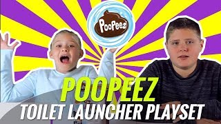 Poopeez toilet launcher playset - Poopeez Toys Review unboxing