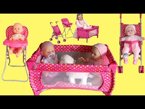 Thumbnail: Dimples Dolls Nursery Playset Baby Born Baby Annabell Little Girl Baby Dolls Rocking Nursery Rhymes