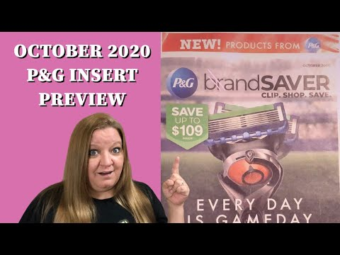 OCTOBER P&G INSERT PREVIEW / BOGO COUPONS / WHAT DID WE GET???