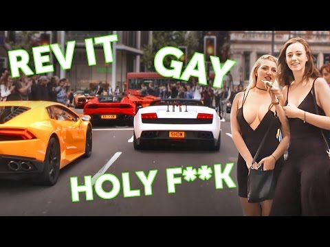 Reactions To A Lamborghini In London!