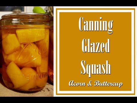 Canning Glazed Acorn & Buttercup Squash