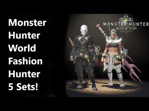 Monster Hunter World Fashion Hunter 5 Must have sets!(Female Edition)