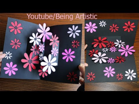 Easy Way To Make  Flower Pop up Card 12-Paper Crafts-Handmade Craft