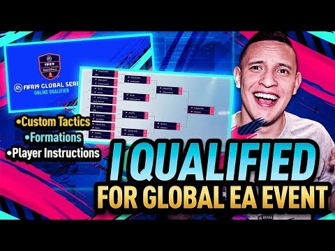 QUALIFIED FOR GLOBAL EA LIVE EVENT!! CUSTOM TACTICS, FORMATIONS, INSTRUCTIONS! FIFA 19 ULTIMATE TEAM