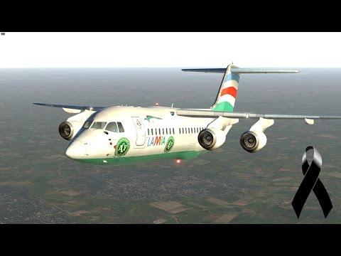X-Plane 11 | Teste Avro RJ-85 | Tributo à Chapecoense