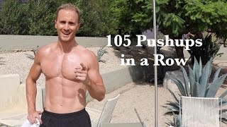 Video 100 Pushups in a Row (actually 105) download MP3, 3GP, MP4, WEBM, AVI, FLV September 2018
