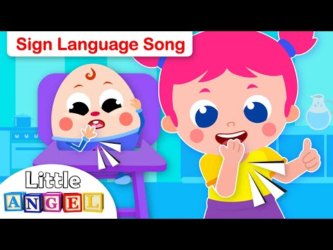 Baby Humpty Dumpty Learns Sign Language | Kids Songs & Nursery Rhymes by Little Angel