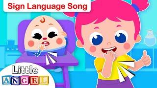 Baby Humpty Dumpty Learns Sign Language | Kids Songs & Nursery Rhymes by Little Angel