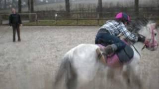 Sally Falling Off Rowen... :)